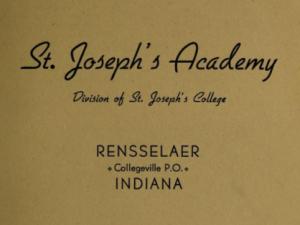 Saint Joseph's Academy Catalogs