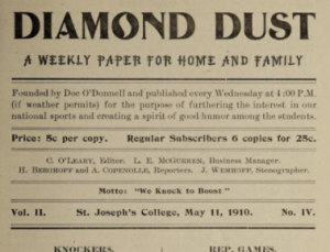 Saint Joseph's College Diamond Dust Newspapers