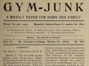 Saint Joseph's College Gym Junk Newspapers
