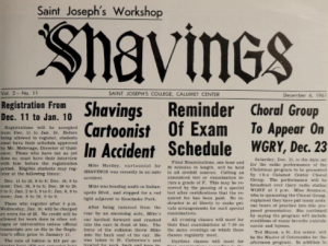 Saint Joseph's College Shavings Newspapers