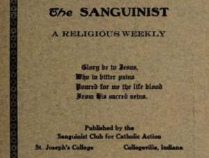 Saint Josephs College Sanguinist Magazines